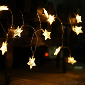 Sea star 3AA battery operated mini LED light string waterproof hanging socket outdoor light