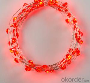 Red heart copper wire light 110v mini bulb light led candle light