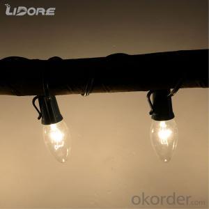 C9 Incandescent bulb light string decorative light waterproof hanging socket outdoor light