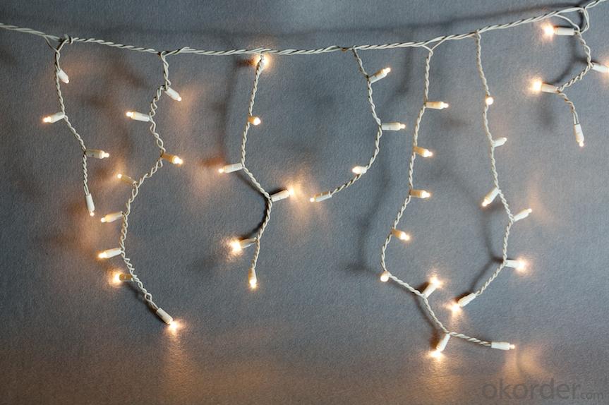 LED curtain light string decorative light waterproof hanging socket outdoor light