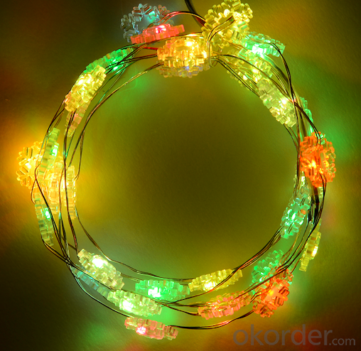 Snowflake copper wire light decorative light waterproof hanging socket outdoor light