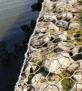 Gabion Basket/Hot Salepvc Coated/Galvanized Box 2*1*1