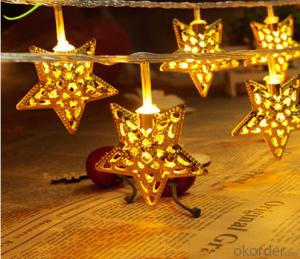LED Adjustable Portable Metal Star String Lights