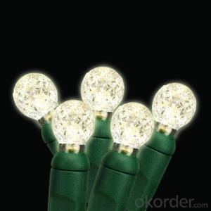 120V UL 70led Christmas String Light Warm White G12 LED String Lights