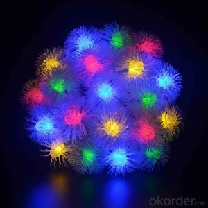 LED String Light with Artificial Dandelion Flower