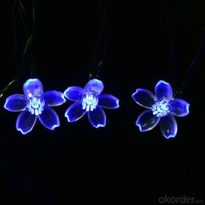 New LED Blue Sakura Solar String Lights Garden Party Christmas Outdoor