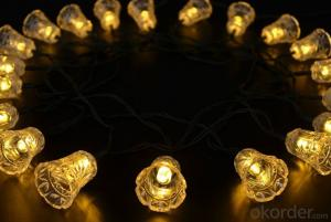 Solar Led Holiday Decorate Lights Led String Light with Bell Shape