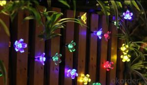Chrismas Decorative Pendant Led String Lights Flower Shape Sakura