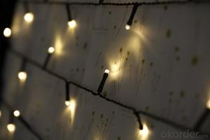 Solar String Lights Outdoor LED Warm White Fabric Christmas Lights