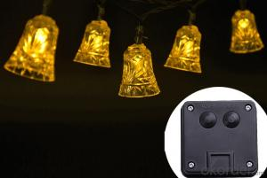 Small Bell Holiday Christmas Led Solar String Lights