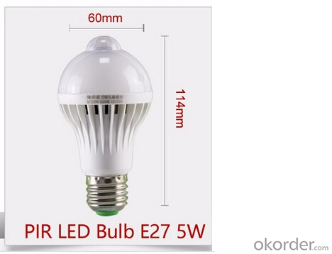 Powerful Energy Led Lamp 220V With Motion Sensor 9w
