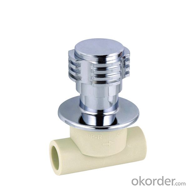 PP-R concealed porcelain core valve with SPT Brand