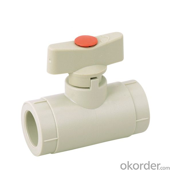 PP-R  mini  ball  valve  with brass ball