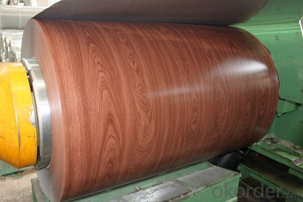 Wooden Grain Coating Aluminium Coil AA3003 for Decoration