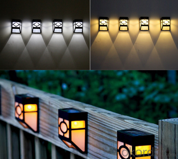 Outdoor Powered  Light Sensor Fence Wall Lamp for Garden Yard Path Lamp Driveway