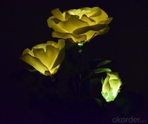 Beautiful Rose Shape Solar Flower Light Good Quality Solar Garden Light