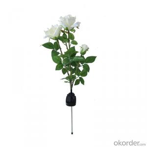 Beautiful Rose Shape Solar Flower Light Good Quality Solar Garden Light