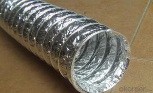 Aluminum Foil Flexible Hoods Ventilation Pipe for Single or Double Layer