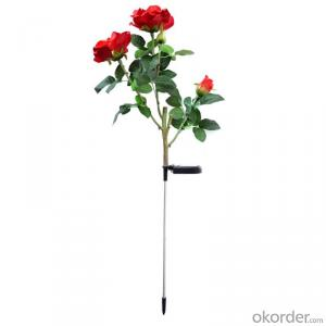 New Product Garden Solar Light/Rose Flower Style Led Outdoor Decoration Solar Lamp