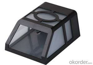 ABS Plastic Rechargeable Solar Powered LED Garden Fence Light