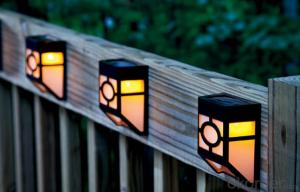 Outdoor Waterproof Fence Solar Post Cap Light 2016 New Product