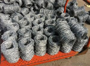 Galvanized or PVC Coated Barbed Iron Wire in Hotsales