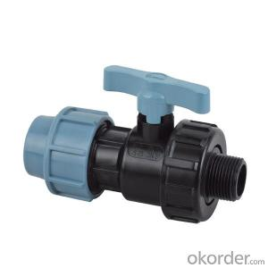 PVC  Male  single   union   ball   valve