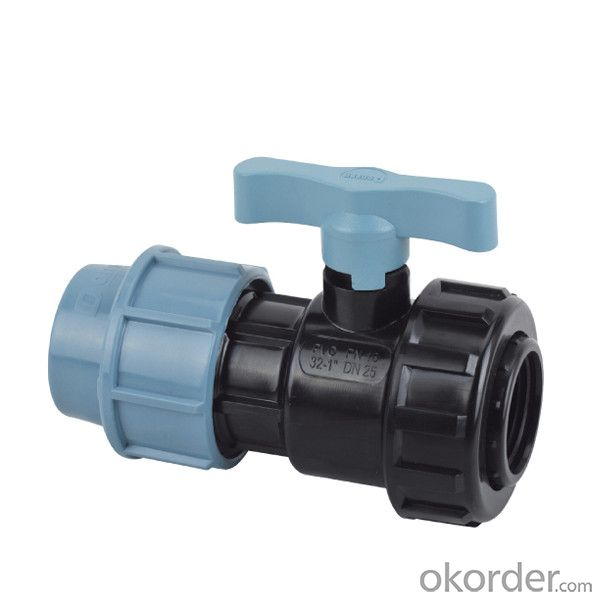 PVC  Female  single  union  ball  valve with SPT Brand