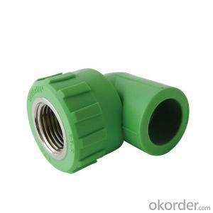 PP-R 90° Elbow with threaded female take off