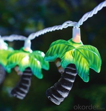 Coconut Tree Light String with 5.5 Feet 10 Lights for Christmas and Party Decoration.