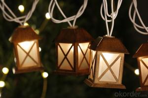 Metal House Light String with 5.5 Feet 10 Lights for Holiday and Party Decoration.