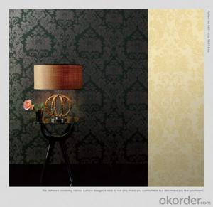 Gold Grade 3d  Glitter Fabric Wallpaper For Decoration  Made In China