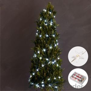 Star Copper Wire String Light with 3AA Battery Box 20 Lights for Holiday Decoration.