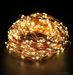 240 Lights Micro LED  Copper Wire String Light with 120V Adapter for Holiday Decoration.