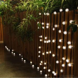 UL Listed Soft Snowflake Solar Light String 5 Meters 20 Lights for Christmas and Party Decoration.