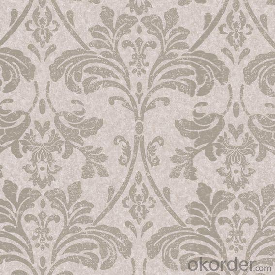 3D Water Proof Velvet Wallpaper Metallic Wallpaper With Good Quality