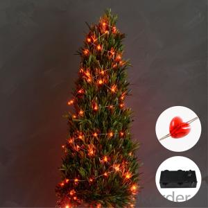 Red Heart  Copper Wire String Light with 3AA Battery 20 Lights for Holiday Decoration.