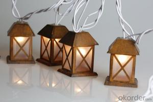 Metal House Light String with 5.5 Feet 10 Lights for Christmas and Party Decoration.
