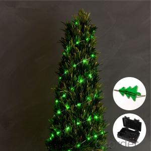 Christmas Tree Copper Wire String Light with 3AA Battery Box 20 Lights for Holiday Decoration.