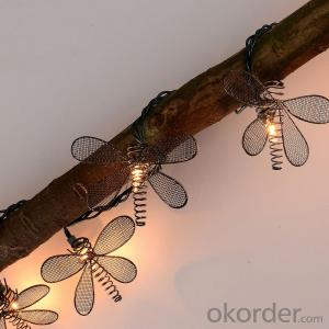 UL Listed Dragonfly Light String with 5.5 Feet 10 Lights for Holiday and Party Decoration.
