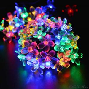 UL Listed Sakura Solar Light String with 5 Meters 20 Lights for Christmas and Party Decoration.