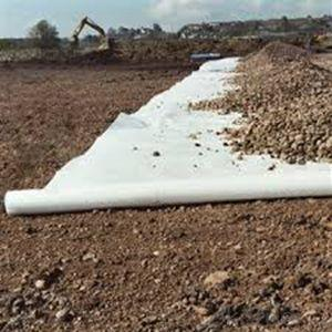 100% PET Short Fiber  Non-woven Geotextile for Road Construction