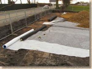100% PET Short Fiber  Non-woven Geotextile for Road Construction