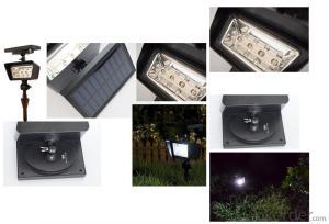 2W 200lm Solar Spot Light 2 Level Brightness Solar Spots Solar Garden Stake with CE&RoHS Cert