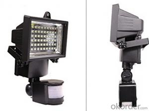 High Power Led Solar Flood Light With Timer For Garden