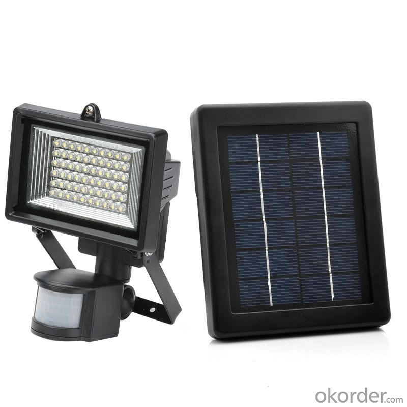 Solar Flood Light with Solar Motion Sensor
