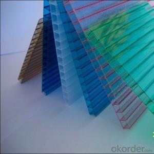Colorful Polycarbonate Hollow Sheet Applicable to the Skylight/ Greenhouse Cover