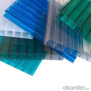 Danpalon crystal polycarbonate pc hollow sheet with transparent