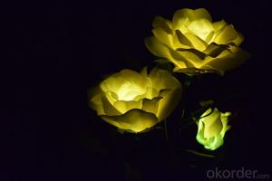 Solar Powered Blossom Yellow Rose Lights Decorative Lighting for Garden,Patio, Yard, Home,, Parties
