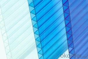 Polycarbonate Hollow Sheet  Ultraviolet Resistance with UV protective layer
